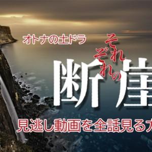 『それぞれの断崖』を見逃し!第1話~最終回のフル動画を見る方法!