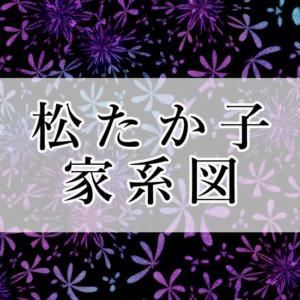 松たか子の【家系図】市川海老蔵や尾上松也との血縁関係は?